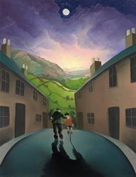 Riding with Grandad by Mackenzie Thorpe - Limited Edition on Paper sized 19x24 inches. Available from Whitewall Galleries